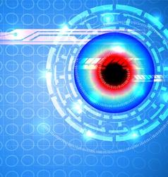 Techno scene vector image