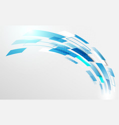 abstract blue geometric curve motion background vector image