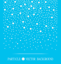 abstract falling snow particles cyan background vector image