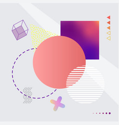abstract image with shapes on vector image