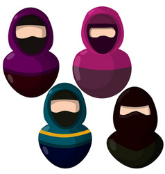 Arab woman in niqab vector