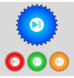 Arrow sign icon Next button Navigation symbol Set vector image