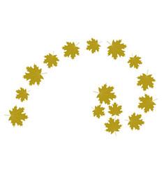Autumn leaves golden ratio vector