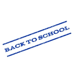 Back To School Watermark Stamp vector