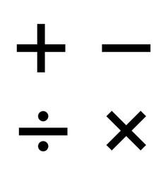 basic mathematical symbols on white background vector image