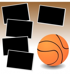 basketball photo adventure vector image