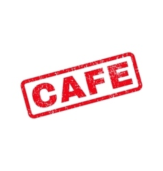 Cafe Text Rubber Stamp vector