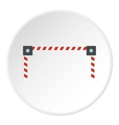 Car barrier icon flat style vector
