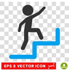 Child Steps Upstairs Eps Icon vector image