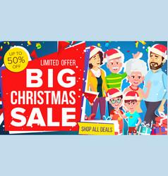 christmas sale banner big sale offer big vector image