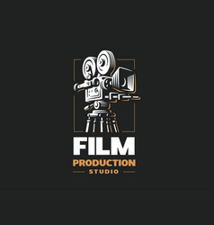 cinema camera - design on vector image