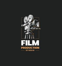 cinema camera - design vector image