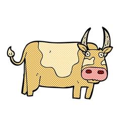 comic cartoon bull vector image