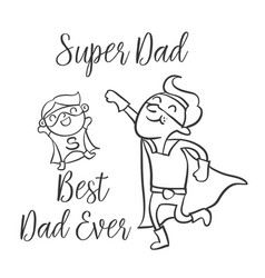 doodle father day style collection vector image
