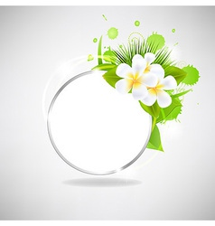 Eco Glass Speech Bubble With Flowers vector image