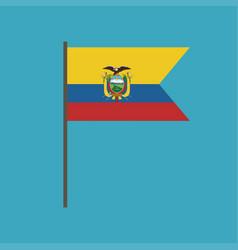 ecuador flag icon in flat design vector image