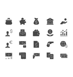 finance savings simple flat icons vector image