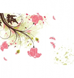 floral theme vector image