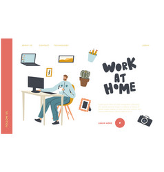 freelance occupation working activity landing vector image