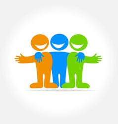 Friend template logo vector