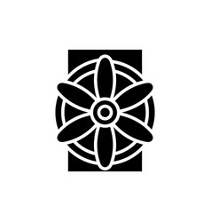 Generator icon black sign on vector