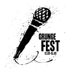 grunge festival flyer poster template print for vector image
