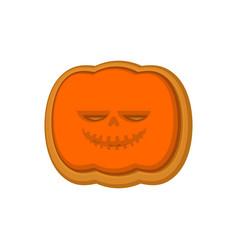 Halloween cookie pumpkin cookies for terrible vector
