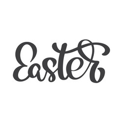 hand drawn easter calligraphy and brush pen vector image
