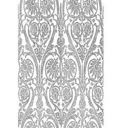 Hand drawn seamless striped damask background vector image