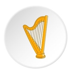 Harp icon cartoon style vector