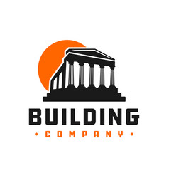 historic building logo design vector image
