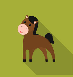 horse flat icon for web and mobile vector image
