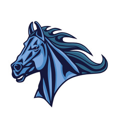 horse logo mascot design vector image