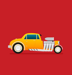 hotrod flat old school race car vector image