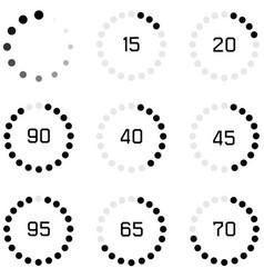 loading icon set vector image