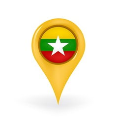 Location Myanmar vector
