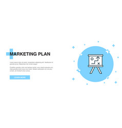 marketing plan icon banner outline template vector image
