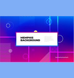 Memphis abstract color background design fluid vector