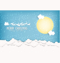 merry christmas and happy new year of santa vector image