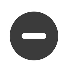 Negative circle sign icon vector