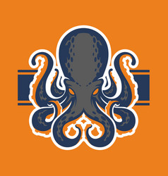 octopus logotype vector image