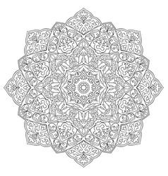 ornamental oriental mandala vector image