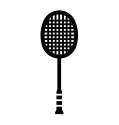 Outline beautiful badminton racket icon vector