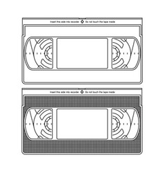 Outlined silhouettes a video recorder tape vector