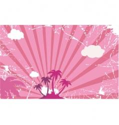 Palm tree island vector