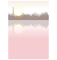 Paris river seine view vector