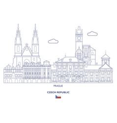 Prague city skyline vector