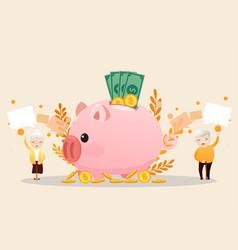 retirement concept vector image