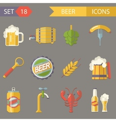 Retro beer alcohol symbols vector