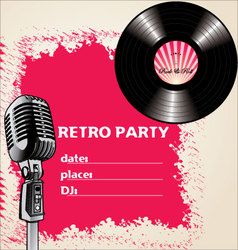 retro party - background vector image